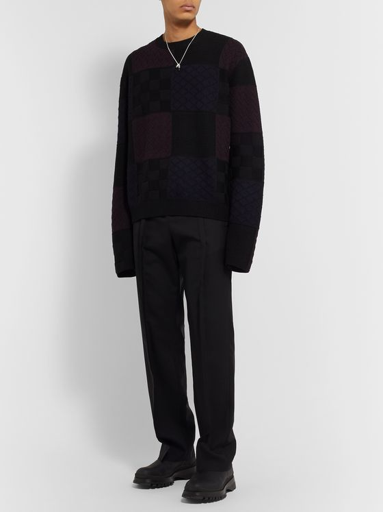 AMBUSH® Patchwork Wool Sweater