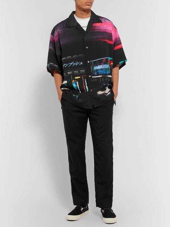 AMBUSH® Dekotora Oversized Camp-Collar Printed Voile Shirt