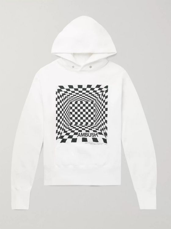 AMBUSH® Logo-Print Fleece-Back Cotton-Jersey Hoodie