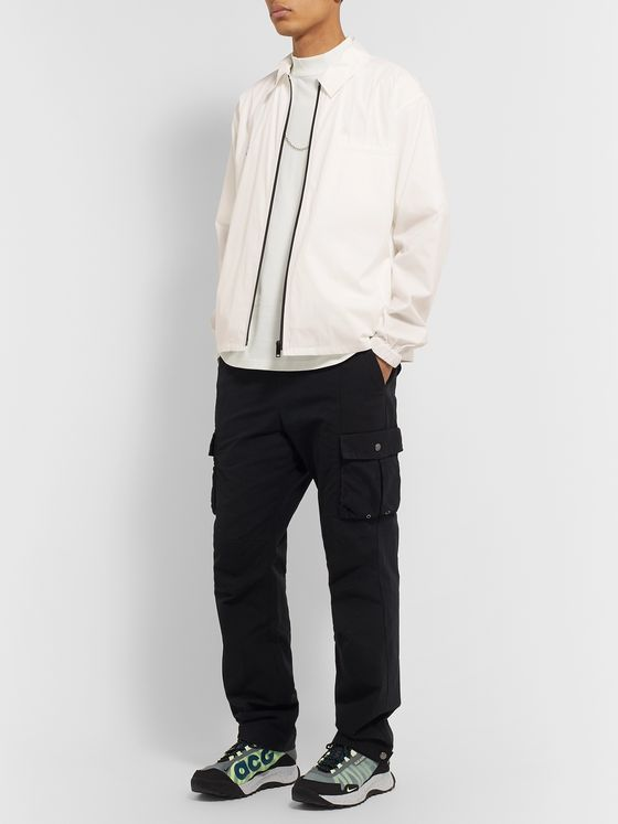 AMBUSH® Logo-Print Cotton and Nylon-Blend Blouson Jacket with Belt Bag