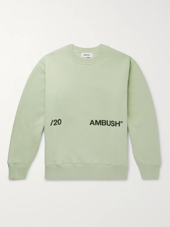 AMBUSH® Logo-Print Fleece-Back Cotton-Jersey Sweatshirt