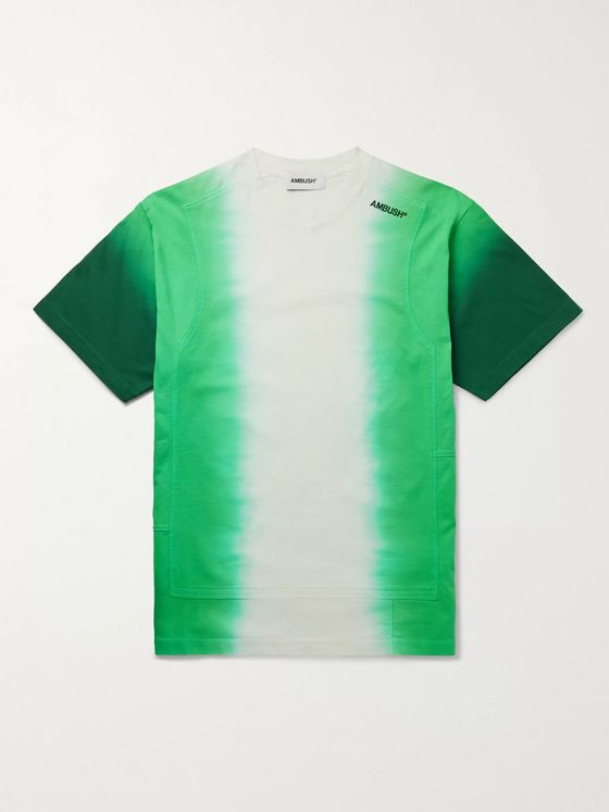 AMBUSH® Logo-Embroidered Patchwork Tie-Dyed Cotton-Jersey T-Shirt