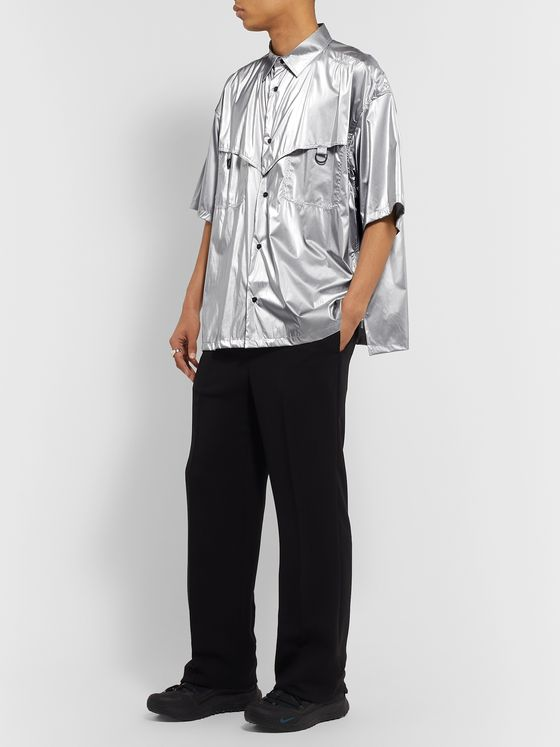AMBUSH® Oversized Metallic Coated-Shell Shirt