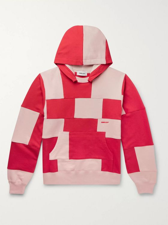 AMBUSH® Patchwork Loopback Cotton-Jersey Hoodie