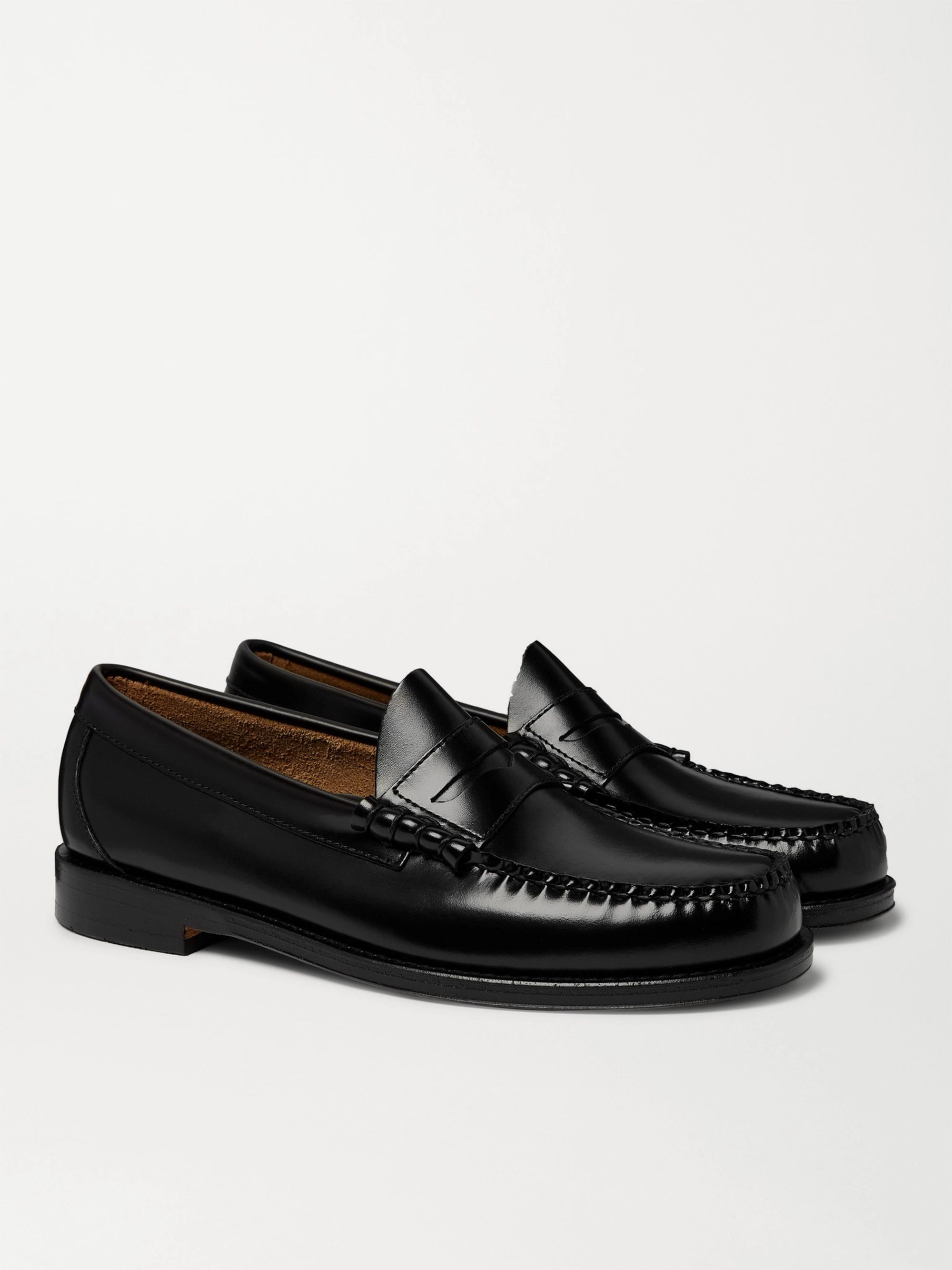 Black Weejuns Larson Leather Penny