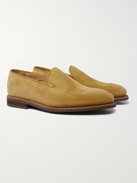 George Cleverley Positano Waxed-Cotton Loafers