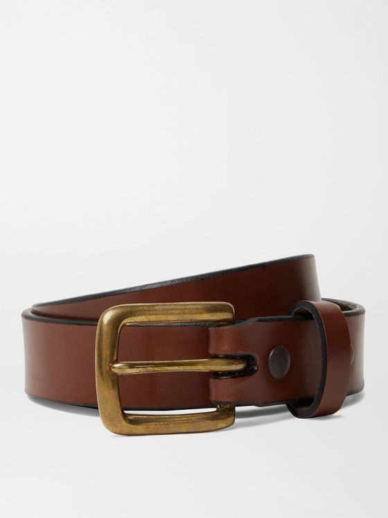 SID MASHBURN 2.5cm Brown Leather Belt