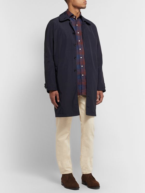 Sid Mashburn Slim-Fit Checked Cotton-Flannel Shirt