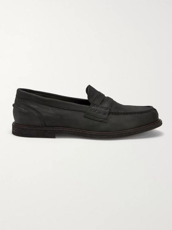 Hender Scheme Distressed Leather Penny Loafers