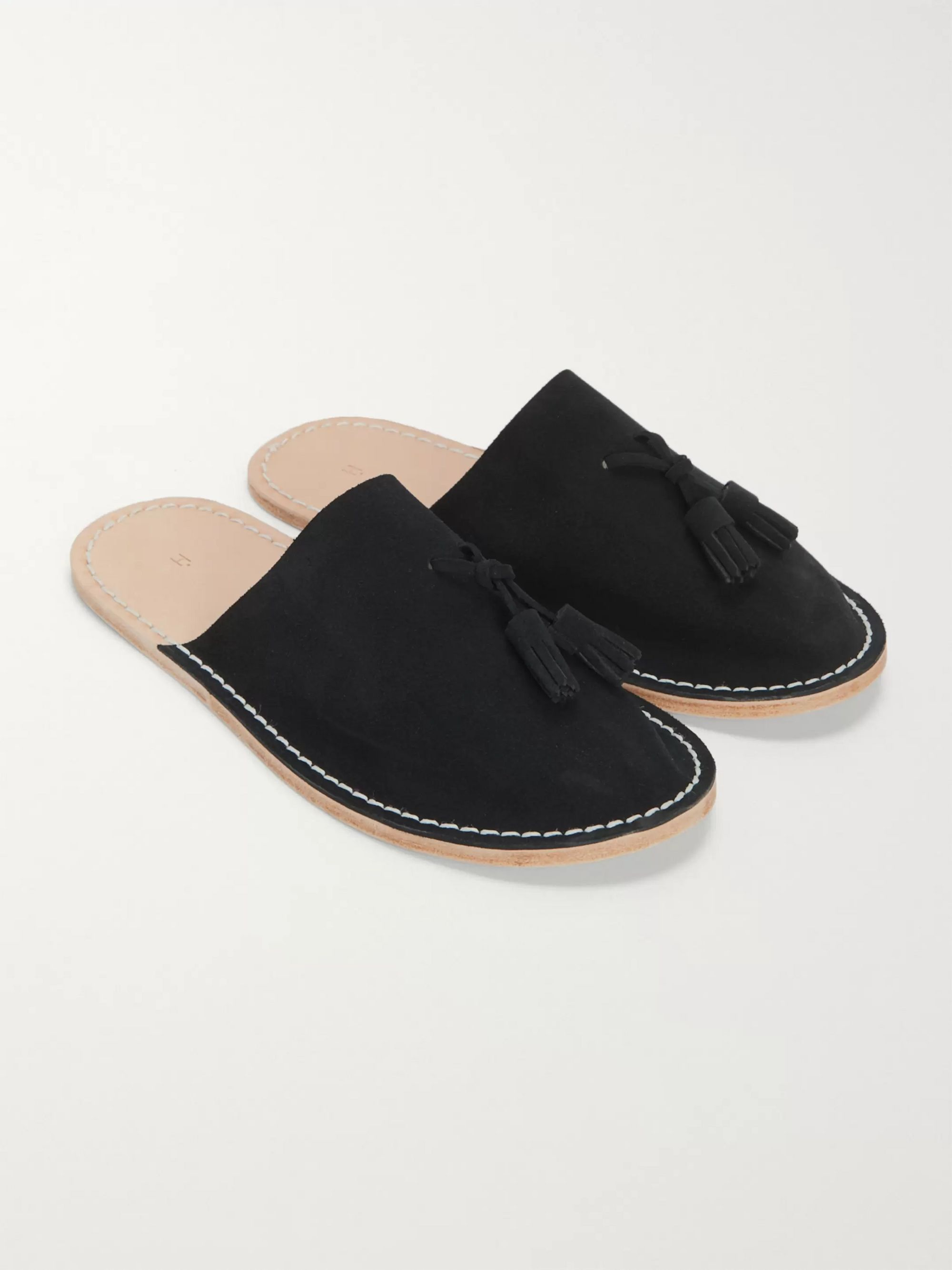 Hender Scheme Suede Tasselled Backless Slippers