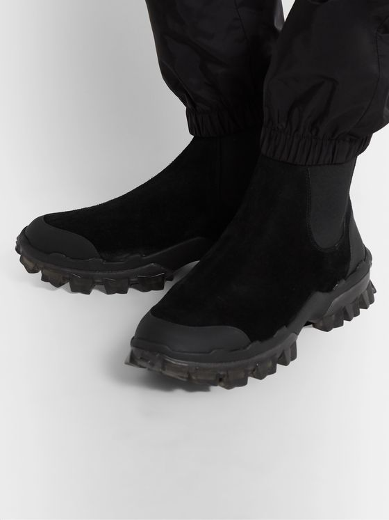 Moncler Hayden Stivale Rubber-Trimmed Suede Boots