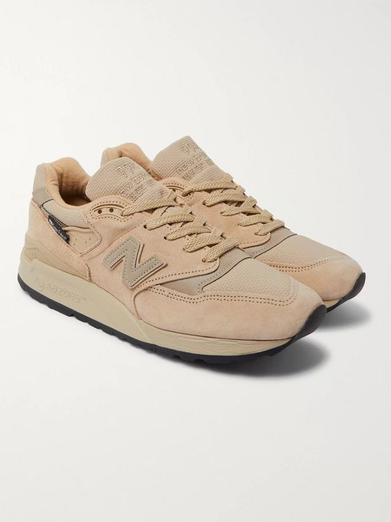 New Balance M998 Suede, Leather and Mesh Sneakers