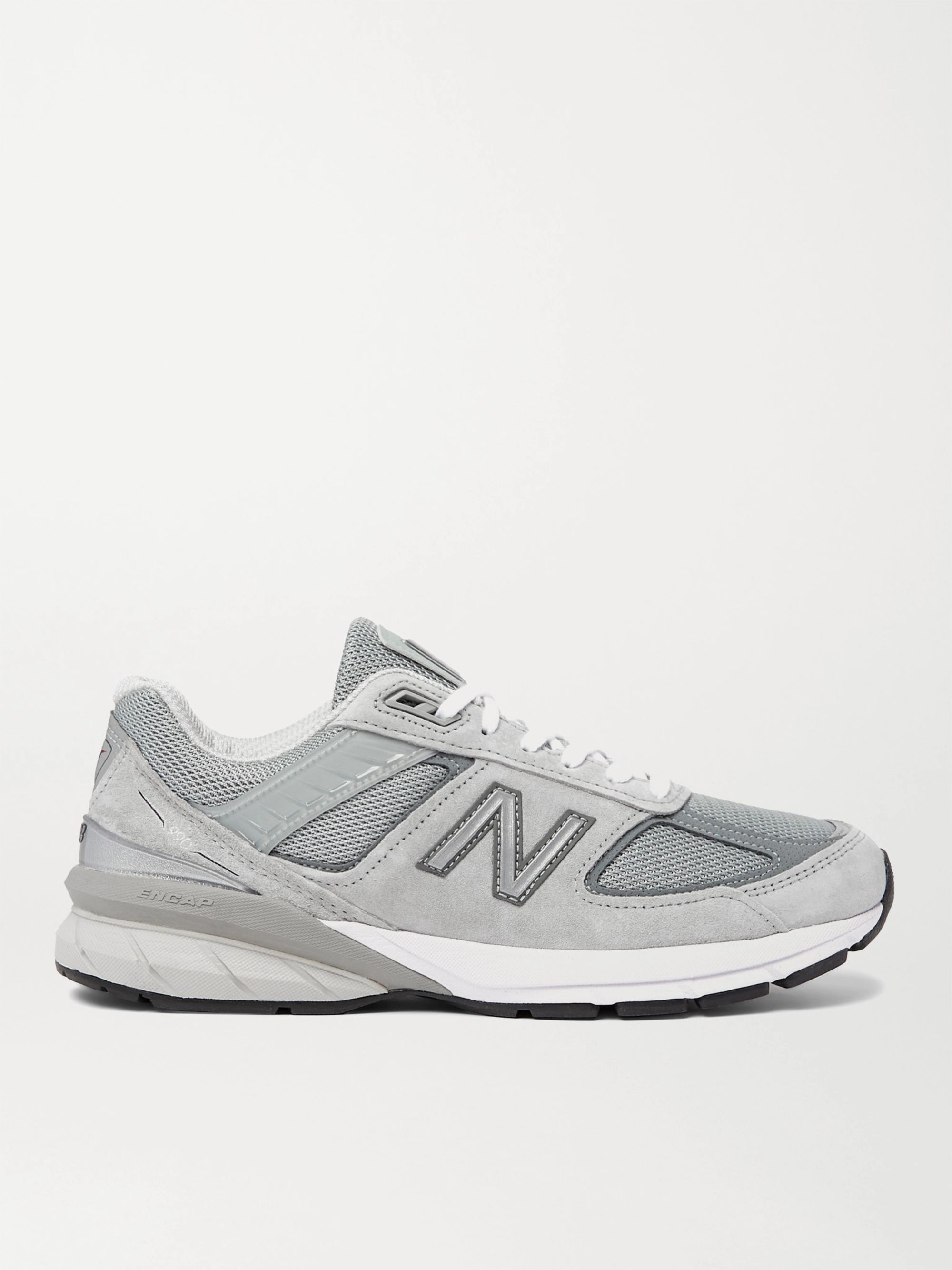 New Balance M990v5 Suede and Mesh Sneakers