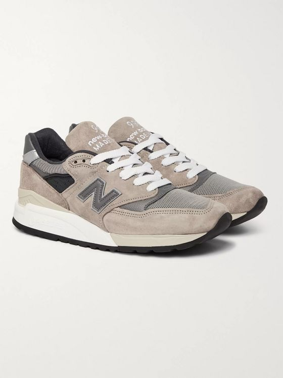 New Balance M998 Suede, Mesh and Leather Sneakers