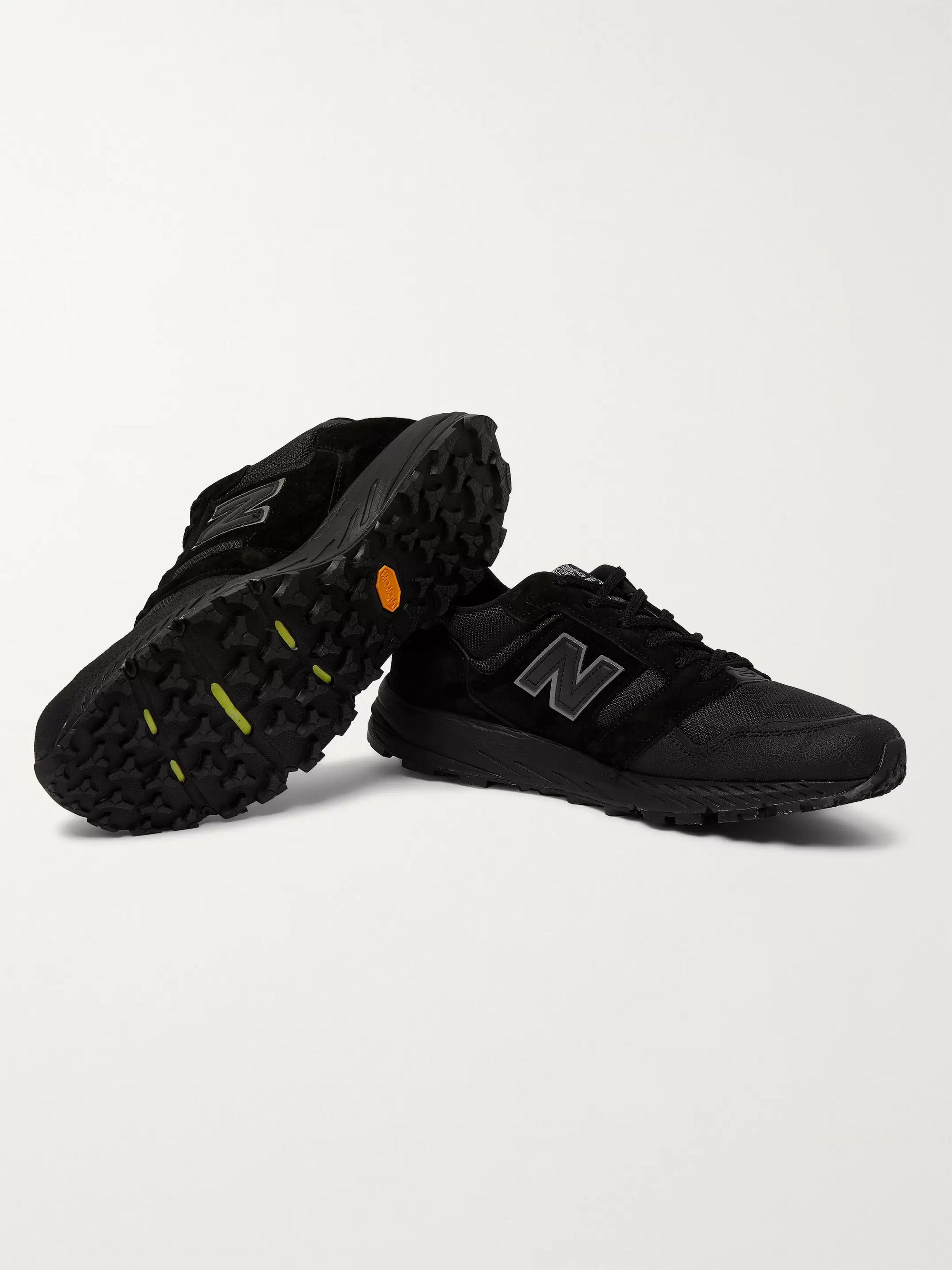 New Balance MTL575 Suede and Mesh Sneakers