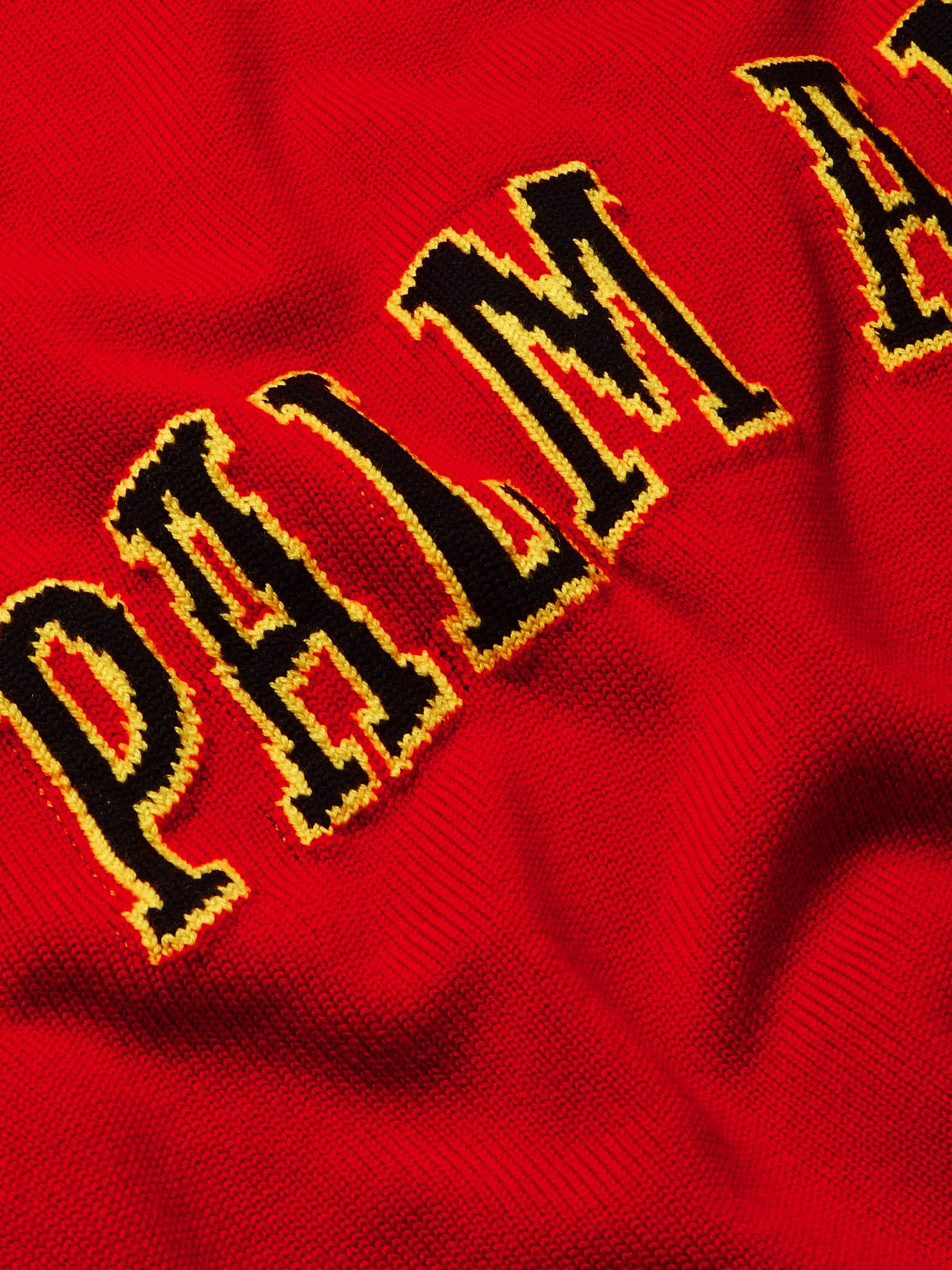 Palm Angels Intarsia Virgin Wool Sweater