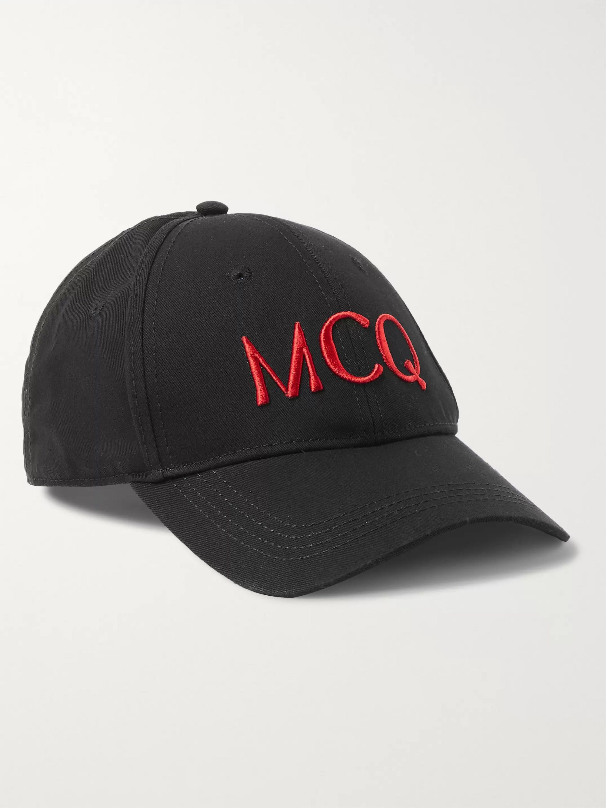 Logo Embroidered Cotton Baseball Cap by Mc Q Alexander Mc Queen