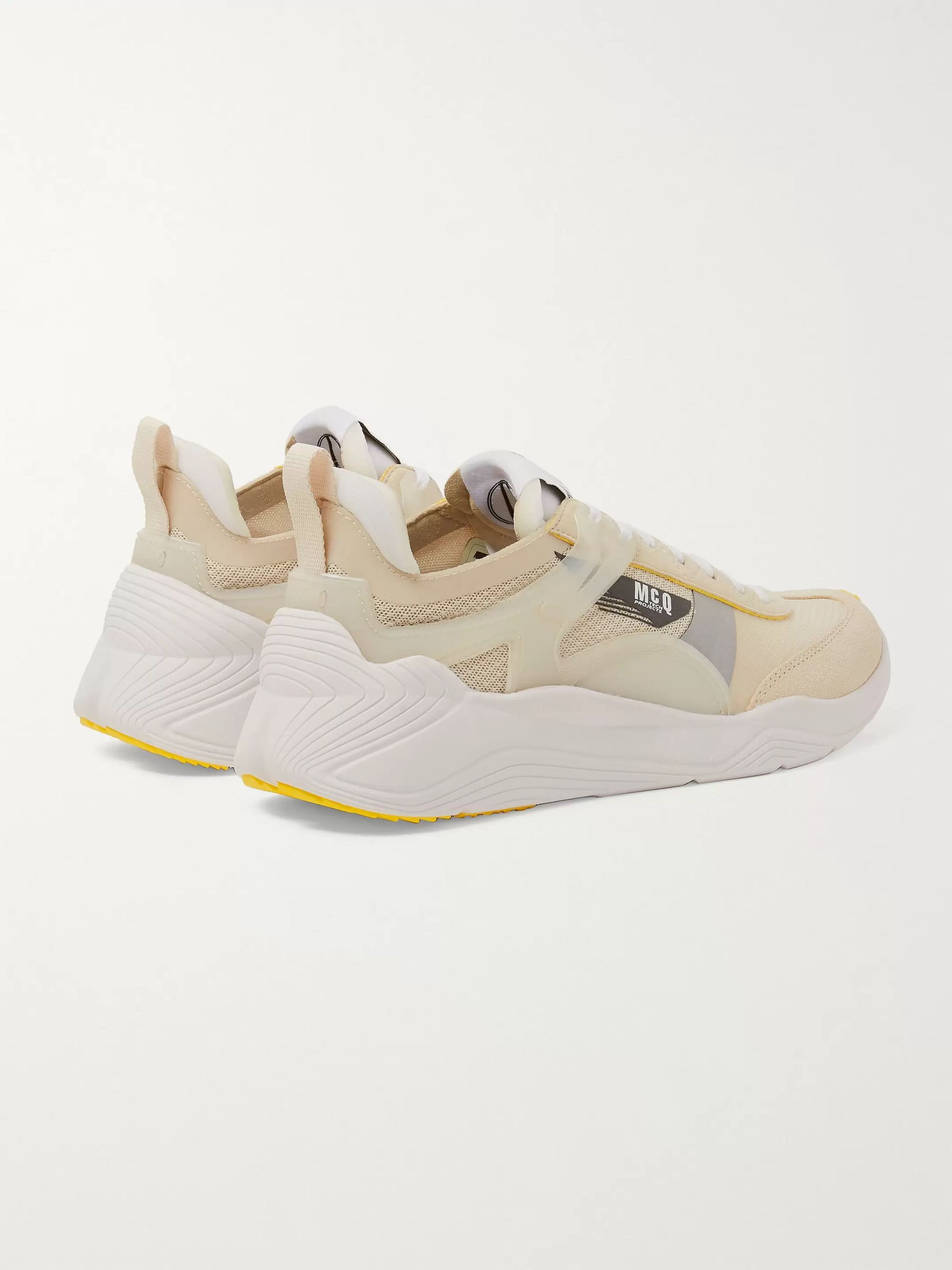 McQ Alexander McQueen Gishiki Pro Rubber-Trimmed Suede, Mesh and Ripstop Sneakers