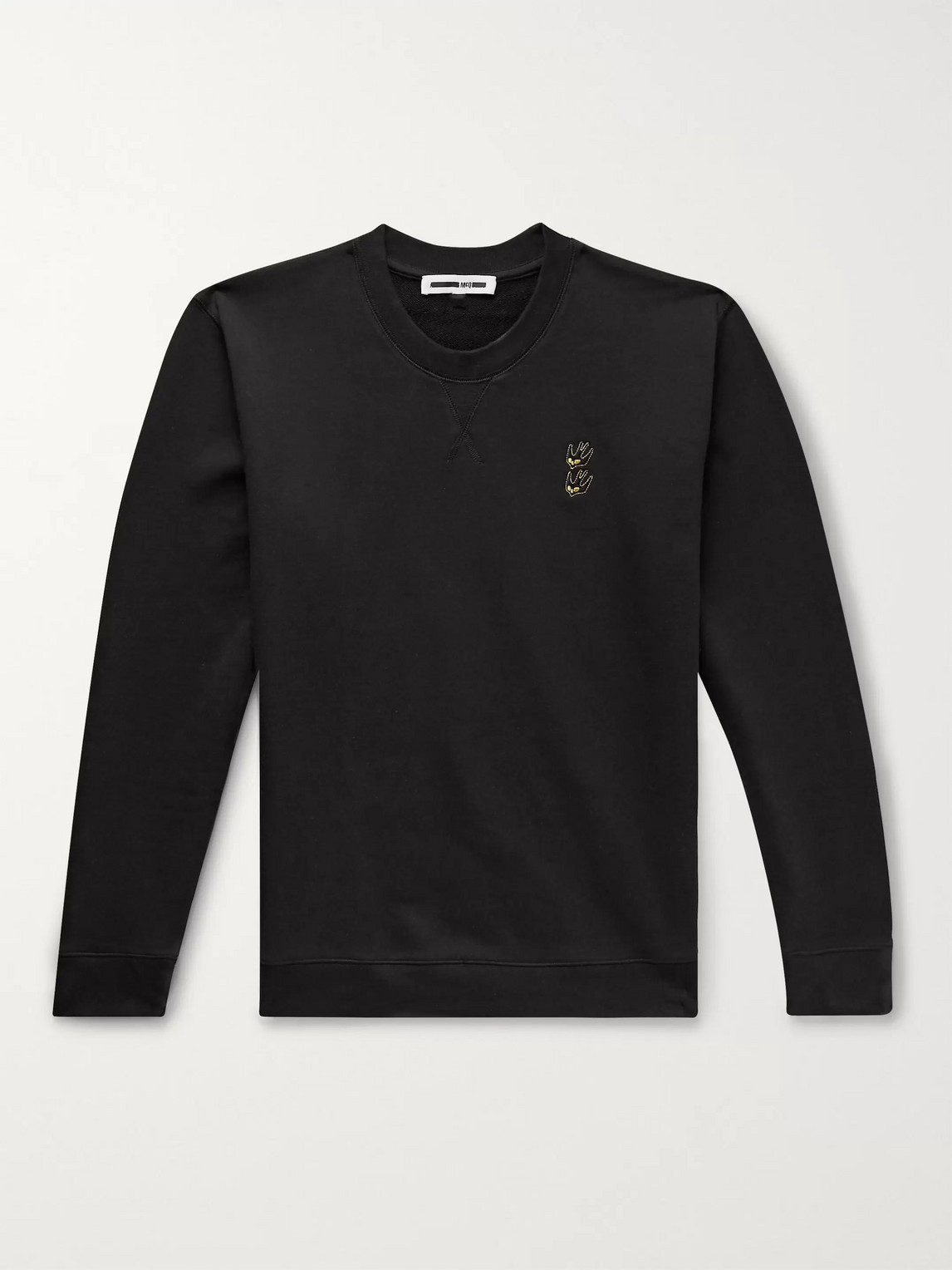 Mcq By Alexander Mcqueen Cottons LOGO-EMBROIDERED LOOPBACK COTTON-JERSEY SWEATSHIRT