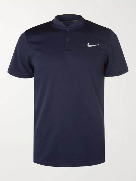 Nike Tennis NikeCourt Dri-FIT Tennis Henley T-Shirt