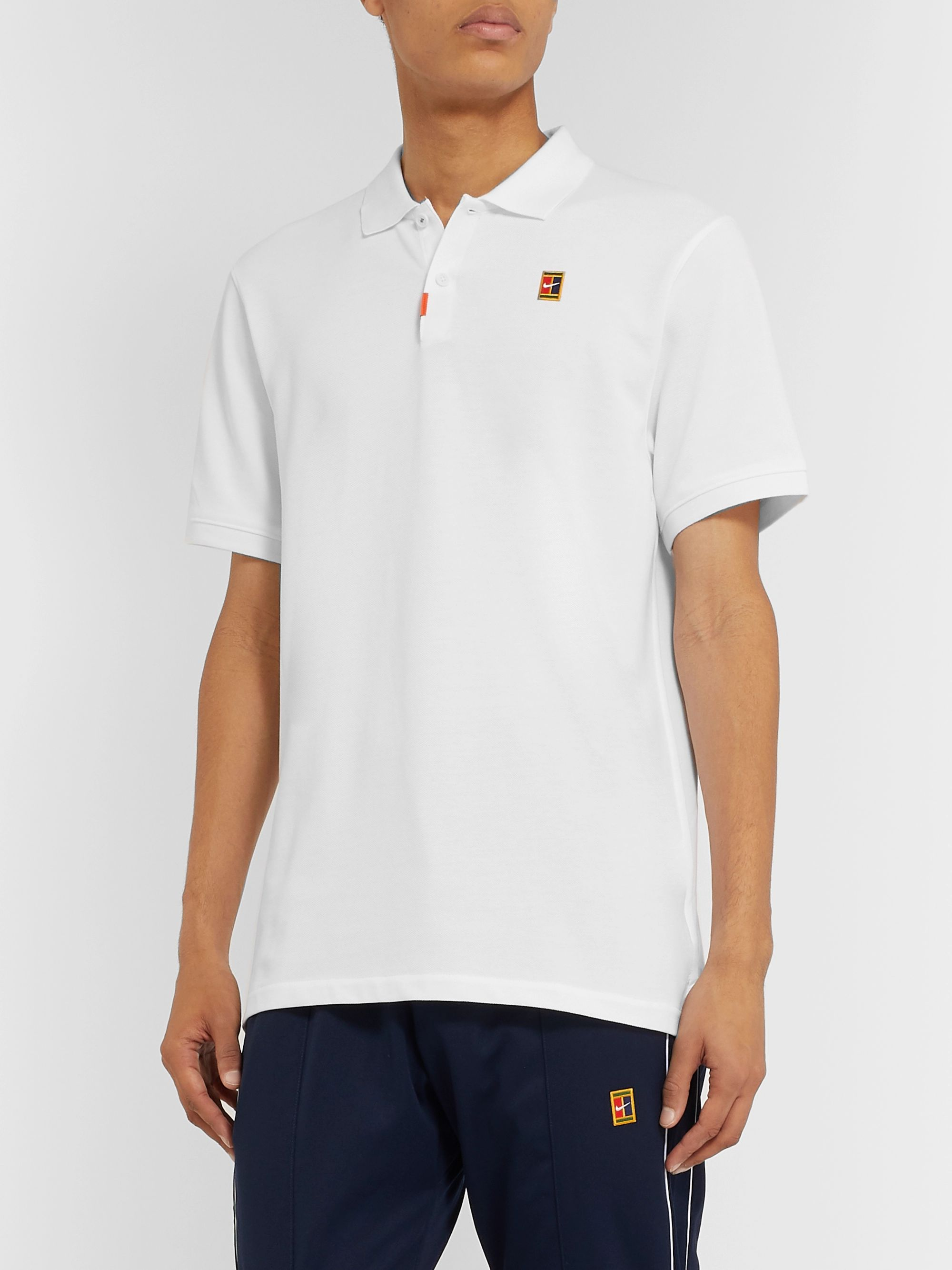 Nike Tennis Heritage Cotton-Blend Piqué Tennis Polo Shirt