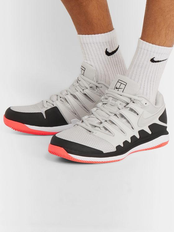 Nike Tennis NikeCourt Air Zoom Vapor X Rubber and Mesh Tennis Sneakers