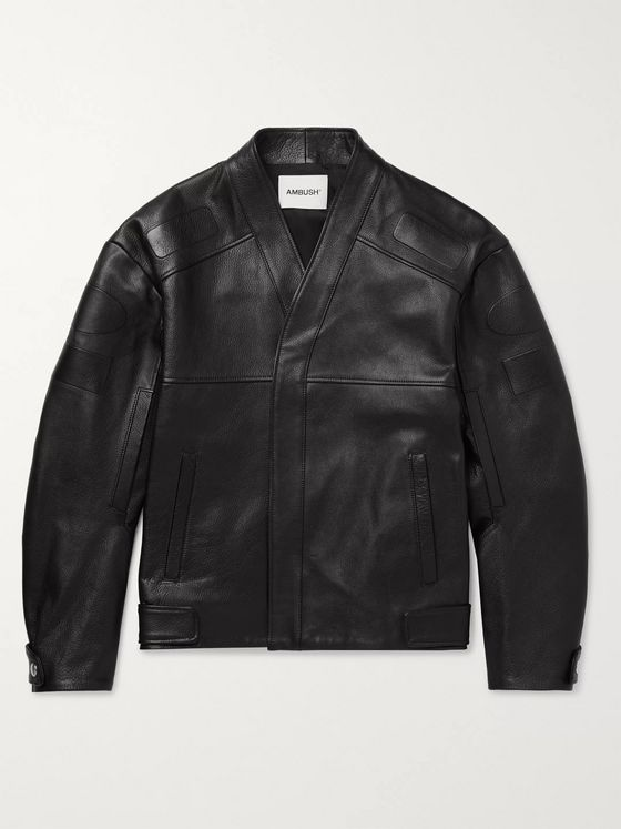 AMBUSH® Logo-Embossed Full-Grain Leather Jacket