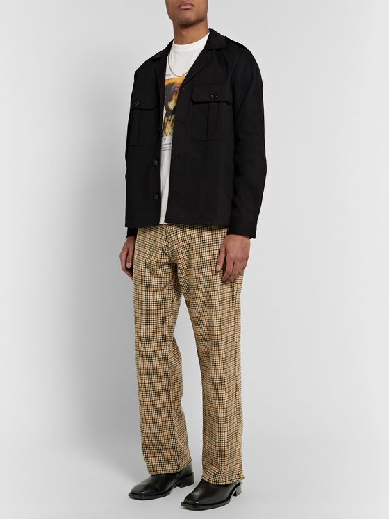 Our Legacy Third Cut Houndstooth Wool and Denim Trousers