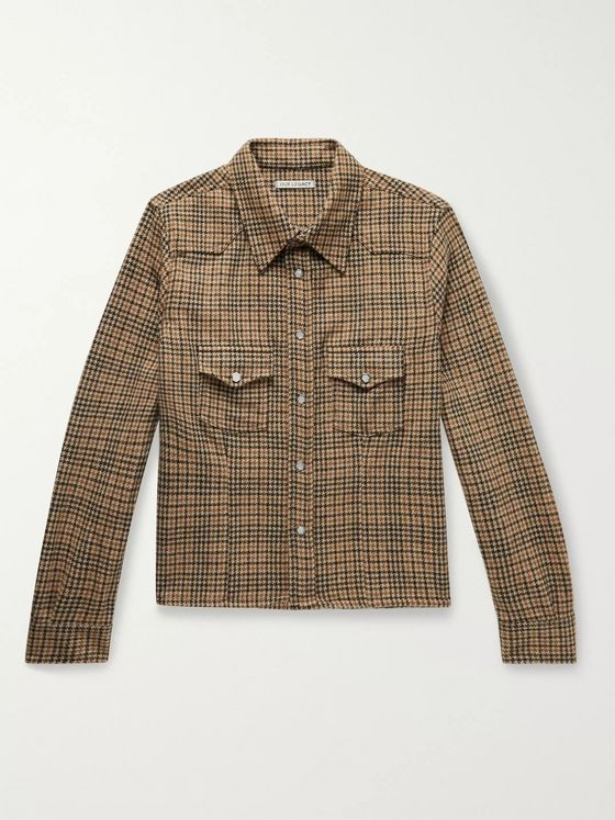 Our Legacy Shrunken Frontier Houndstooth Virgin Wool Shirt Jacket