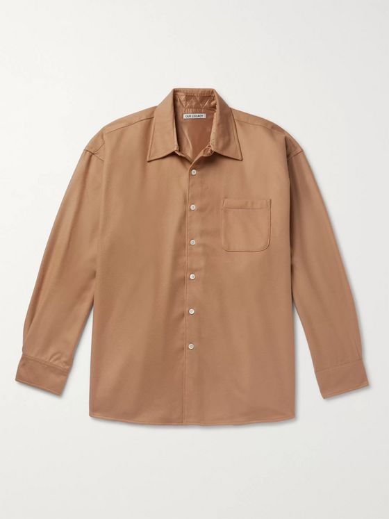 Our Legacy Borrowed Wool and Cashmere-Blend Overshirt