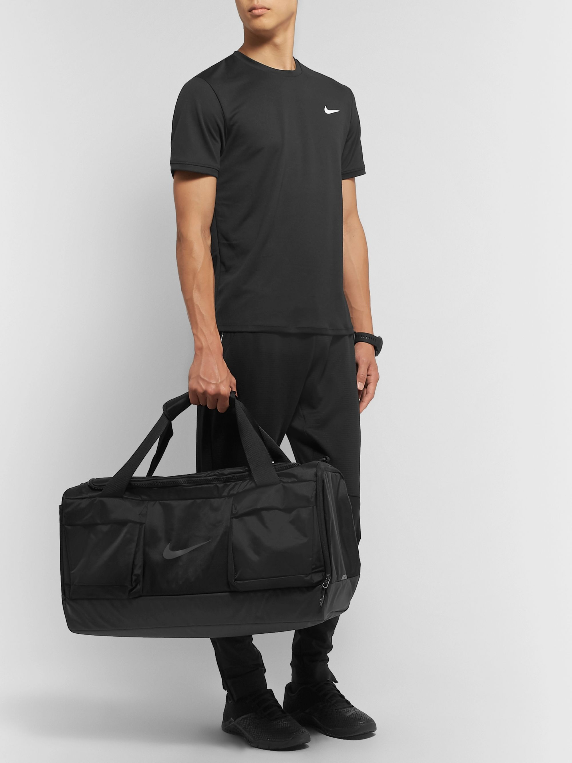 Nike Training Vapor Power Shell-Trimmed Nylon-Blend Canvas Holdall