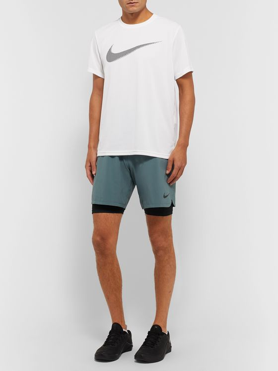 Nike Training Pro Stretch-Jersey Shorts