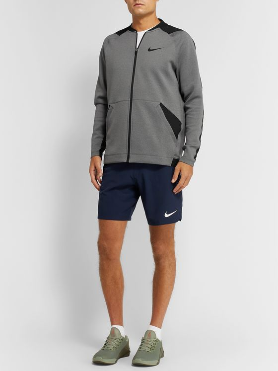 Nike Training Pro Logo-Print Dri-FIT Zip-Up Top