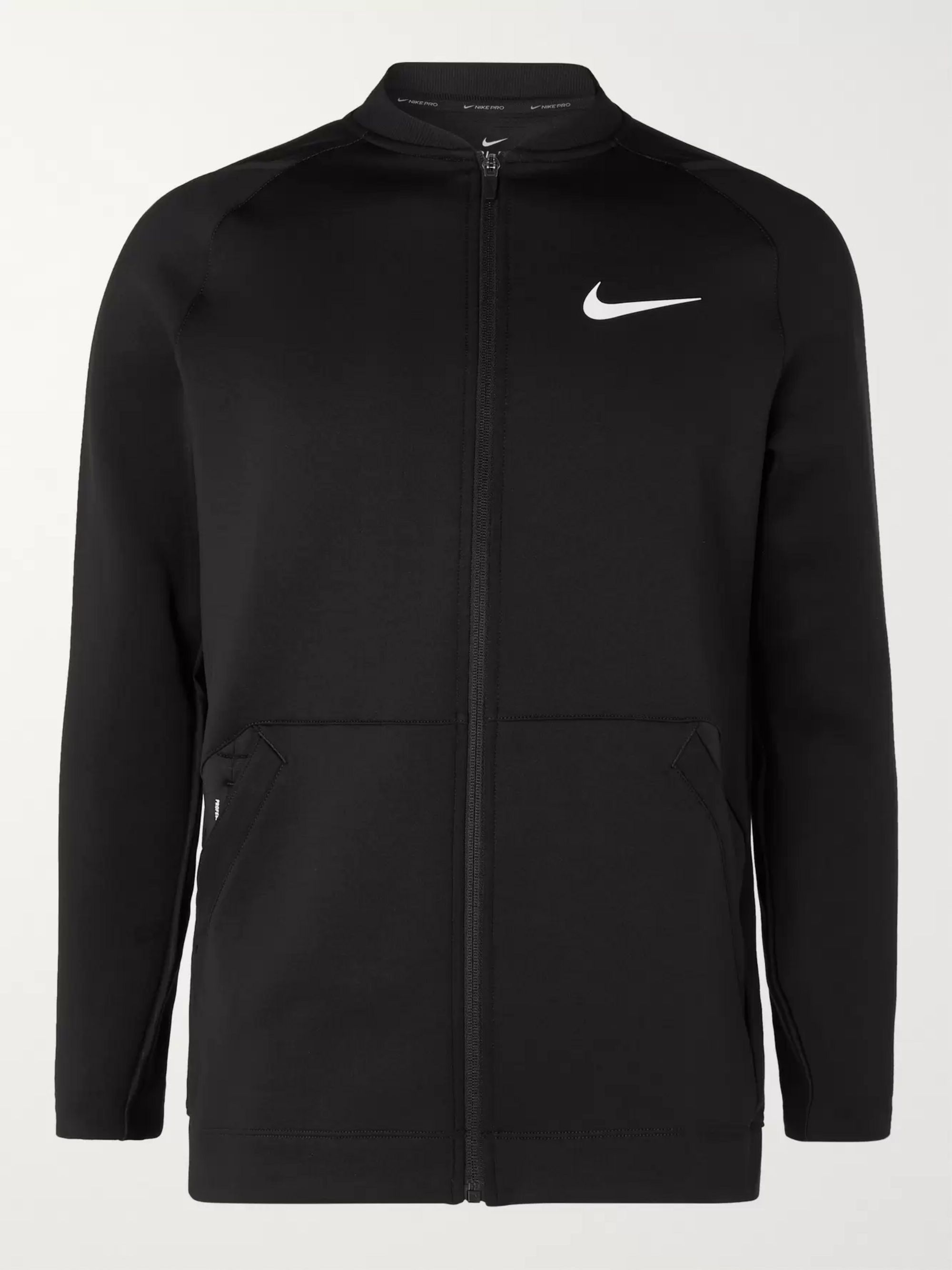 Pro Logo Print Dri Fit Zip Up Top by Nike Training