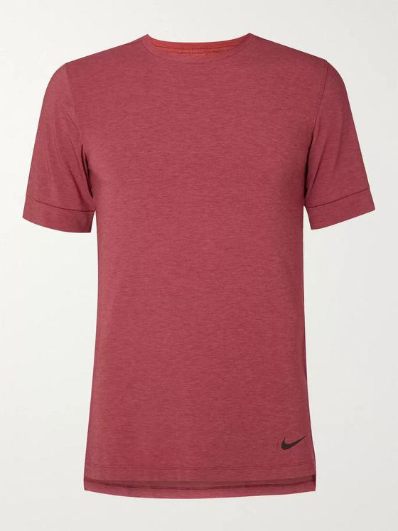Nike Training Transcend Slim-Fit Mélange Dri-FIT Yoga T-Shirt