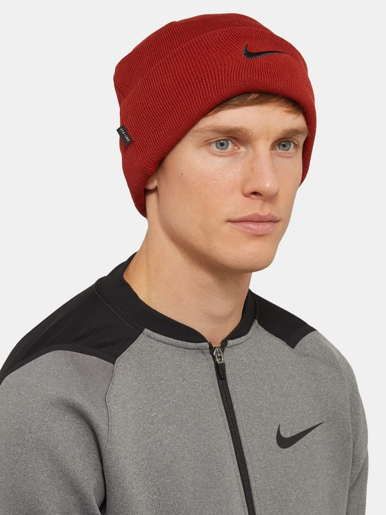 Nike Training Logo-Embroidered Dri-FIT Beanie