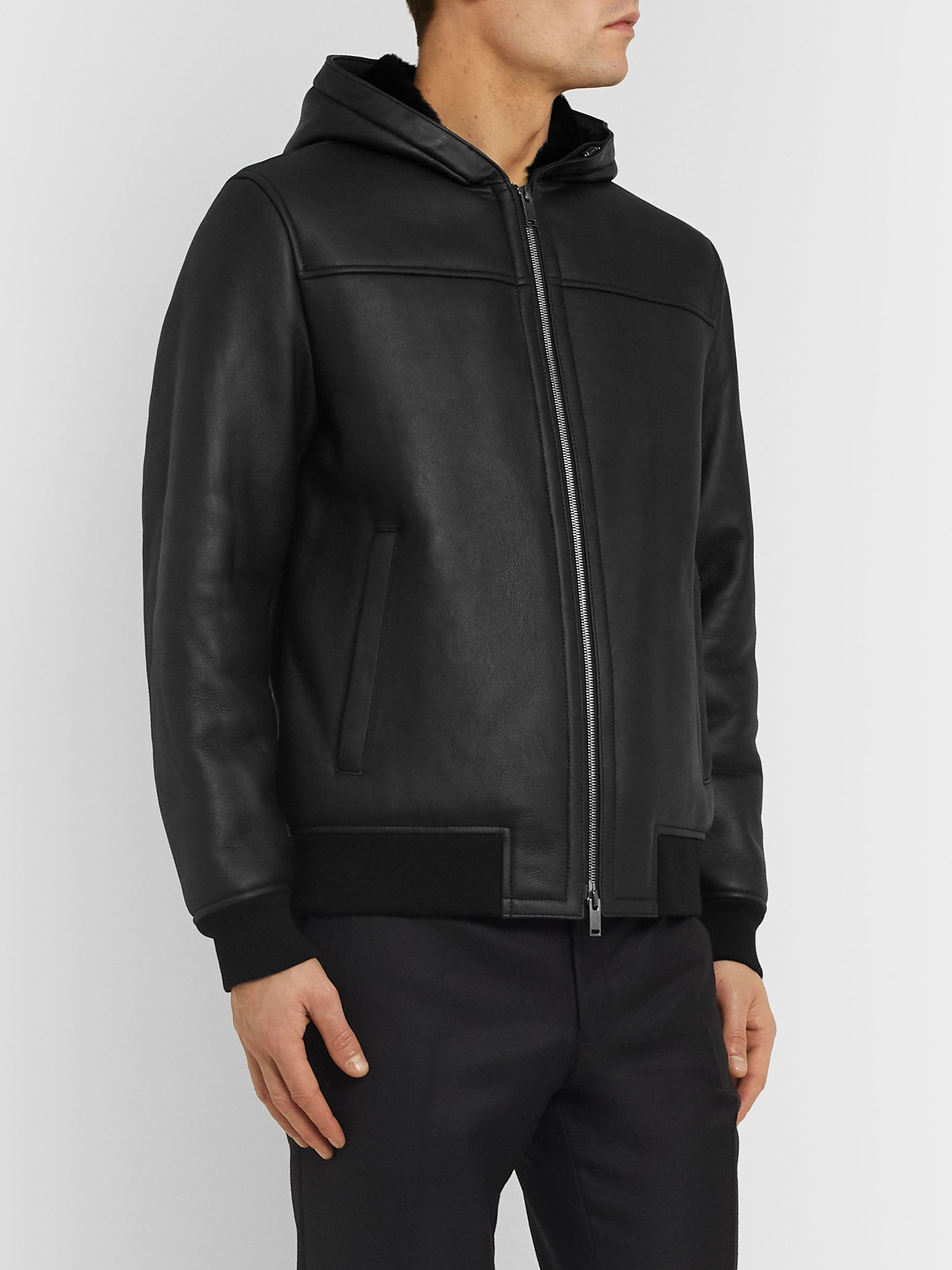 Theory Rivington Shearling Hooded Jacket