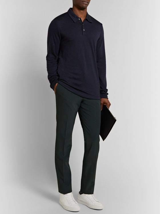 Theory Payton Slim-Fit Saronni Tech Trousers