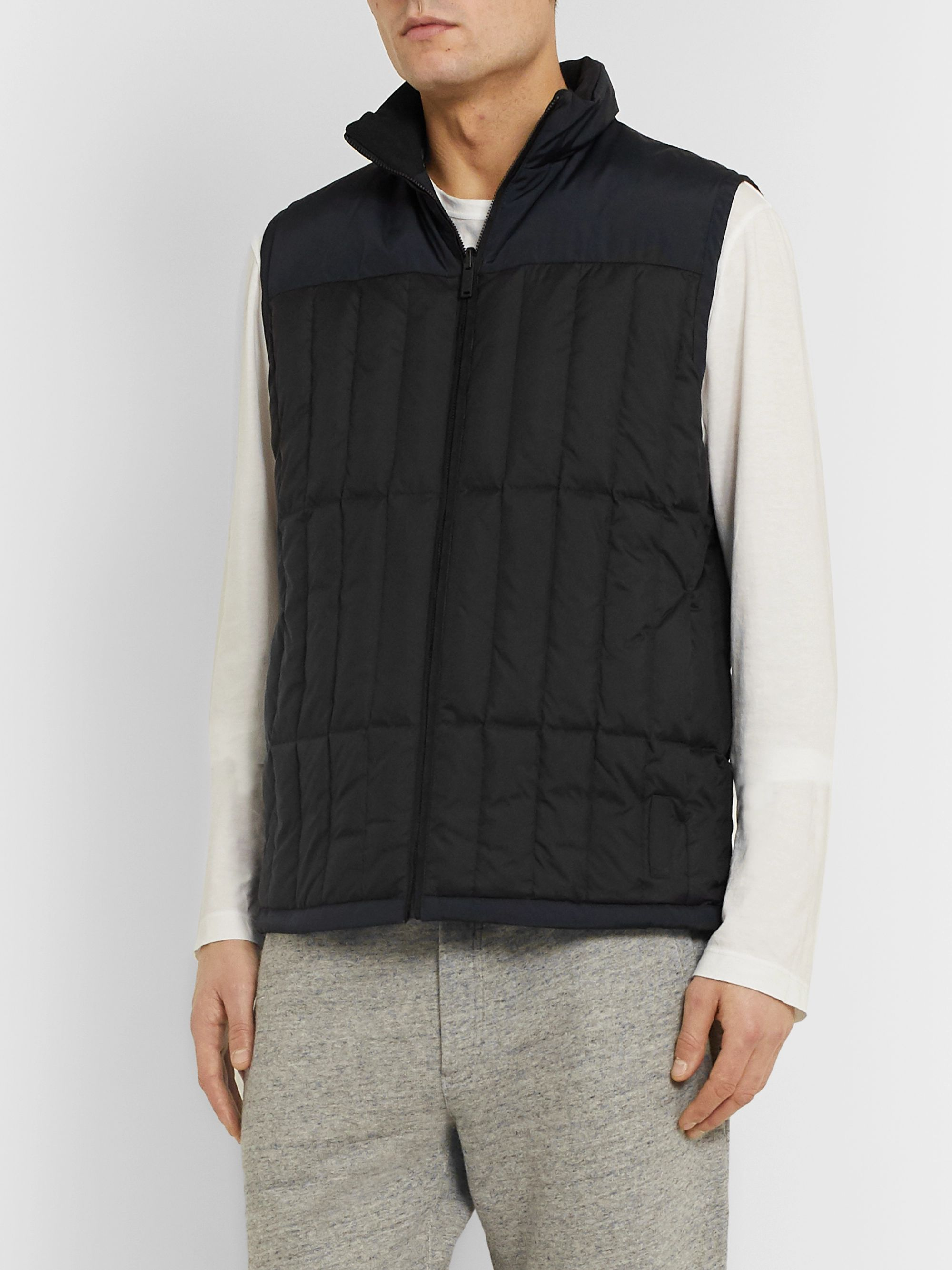Theory Arne Slim-Fit Reversible Colour-Block Quilted Shell Down Gilet