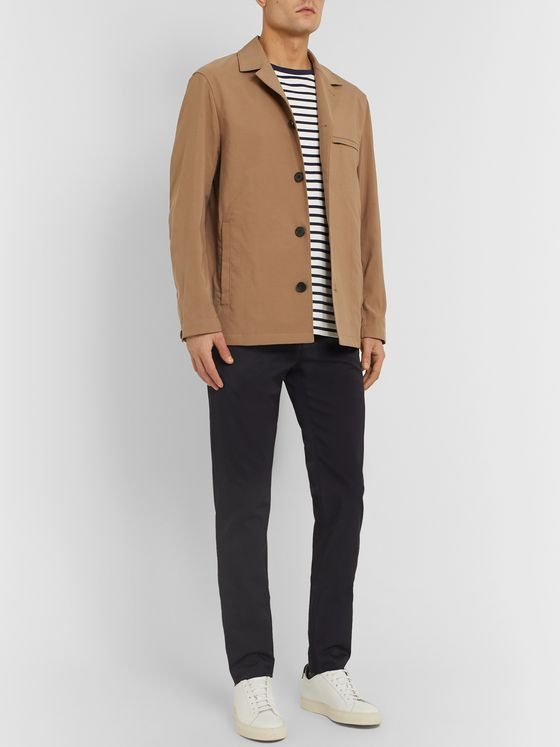 Theory Beige Maxwell Unstructured Nylon-Canvas Blazer