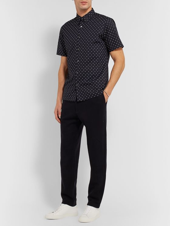 Theory Irving Printed Cotton-Blend Poplin Shirt