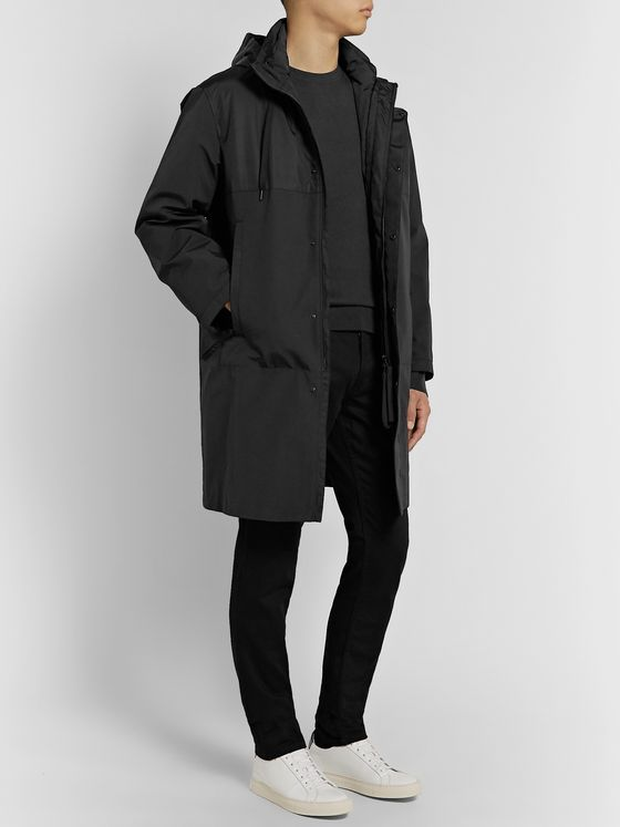 Theory Philip Shell-Panelled Cotton-Blend Parka with Removable Down Liner
