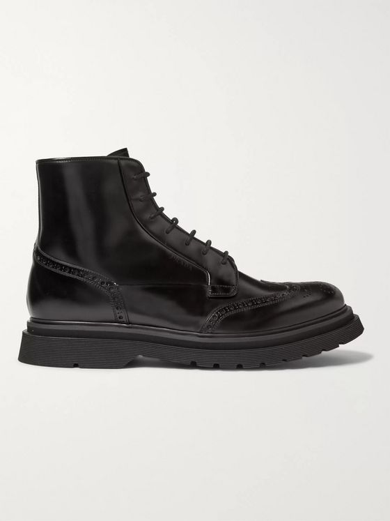 Prada Leather Brogue Boots