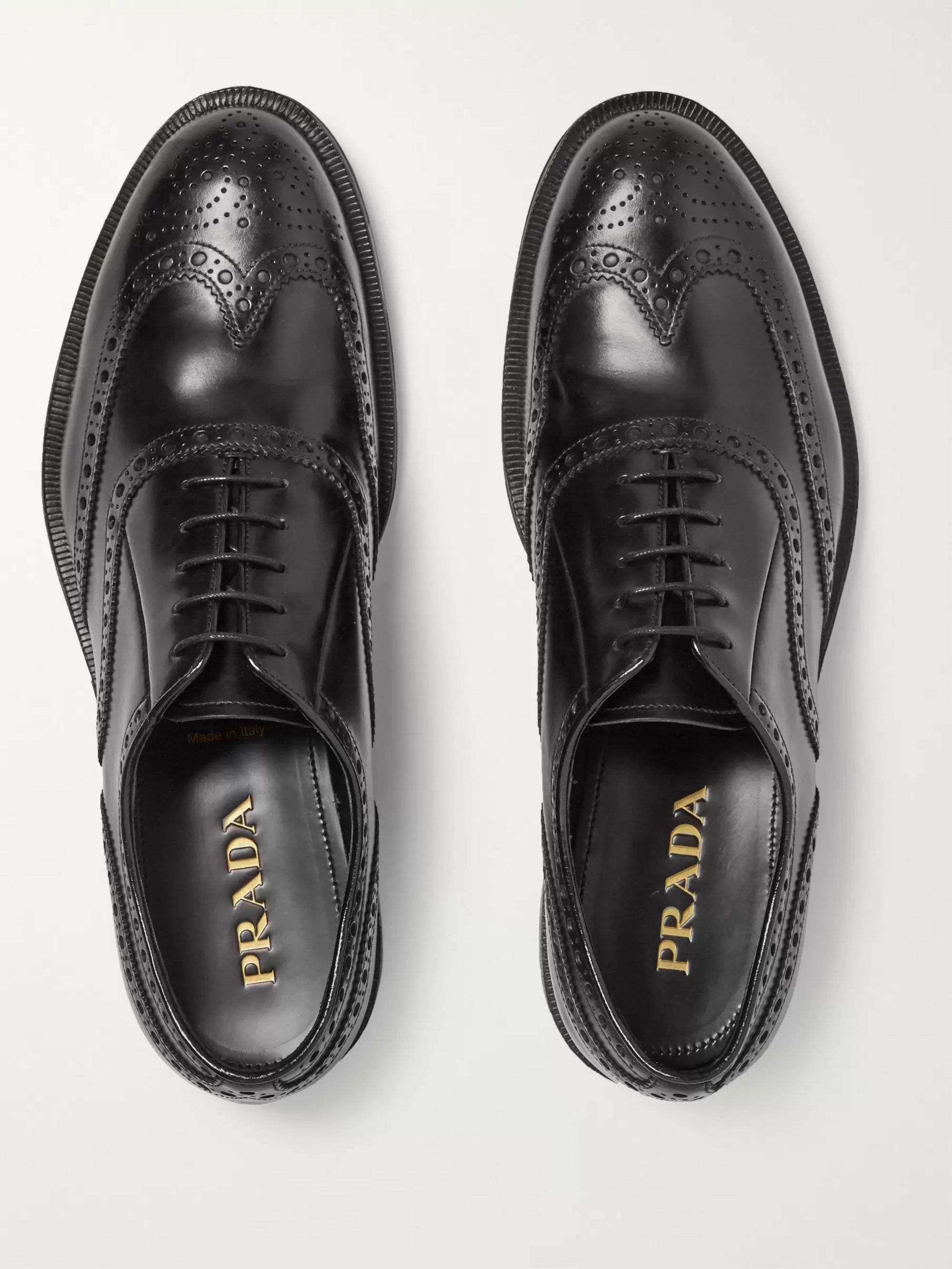 Prada Leather Wingtip Brogues