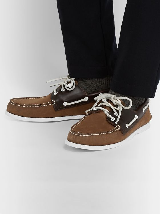 Sperry Authentic Original Nubuck and Leather Boat Shoes