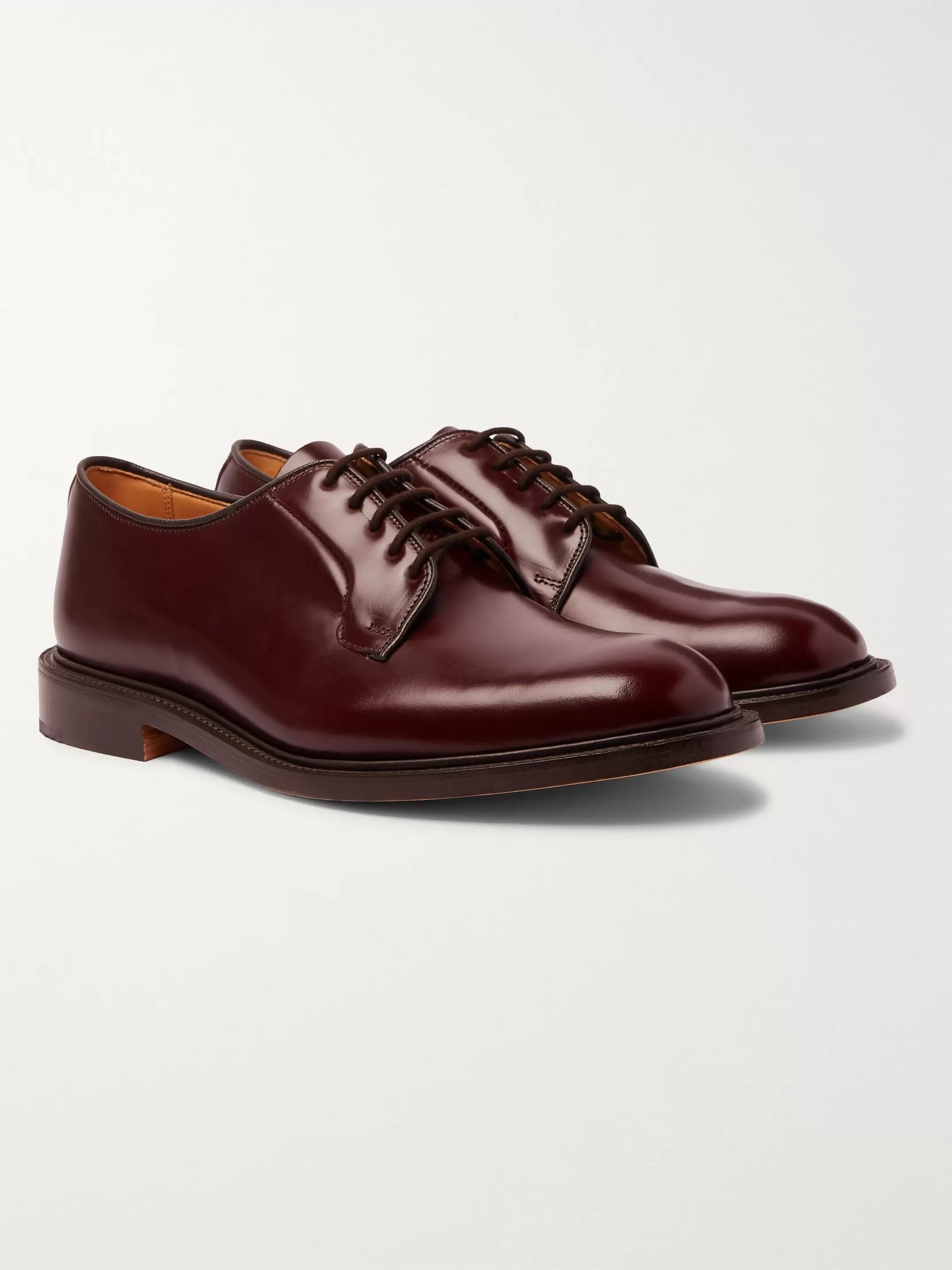 Tricker's Robert Polished-Leather Derby Shoes
