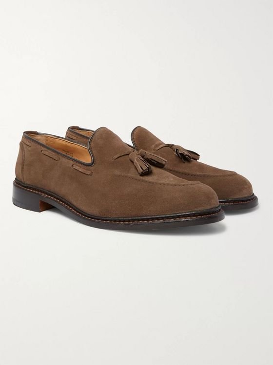 Tricker's Elton Suede Tasselled Loafers