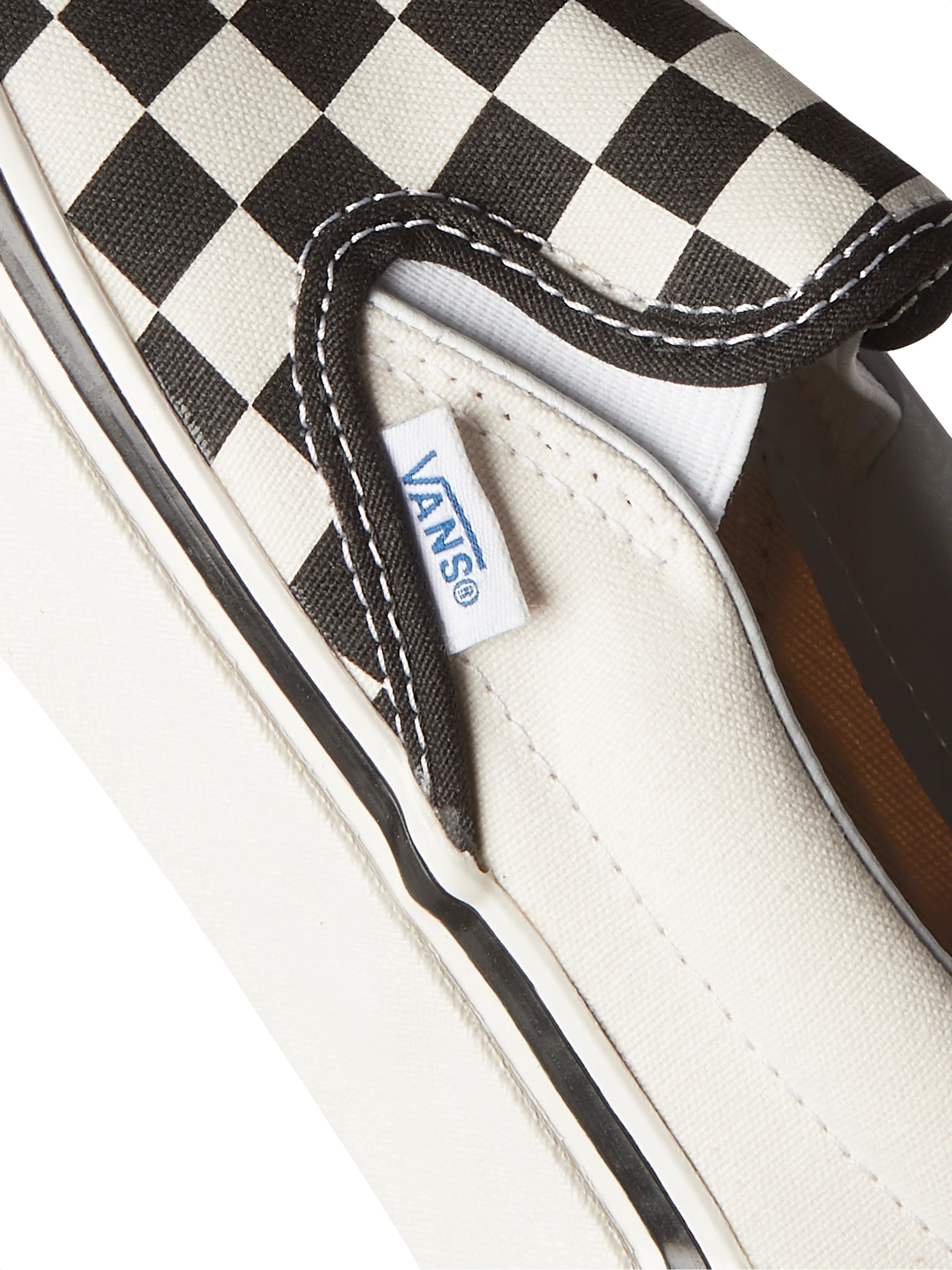 White Ua Classic 98 Dx Checkerboard Canvas Slip-on Sneakers   Vans