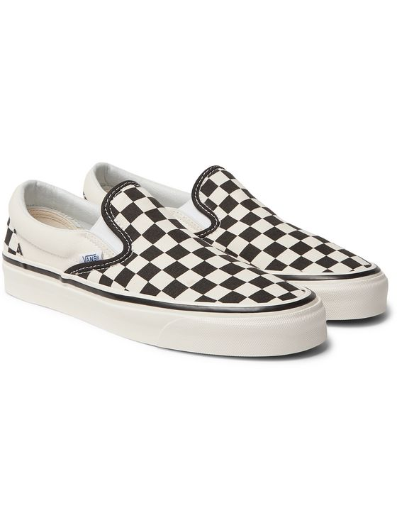 Vans UA Classic 98 DX Checkerboard Canvas Slip-On Sneakers