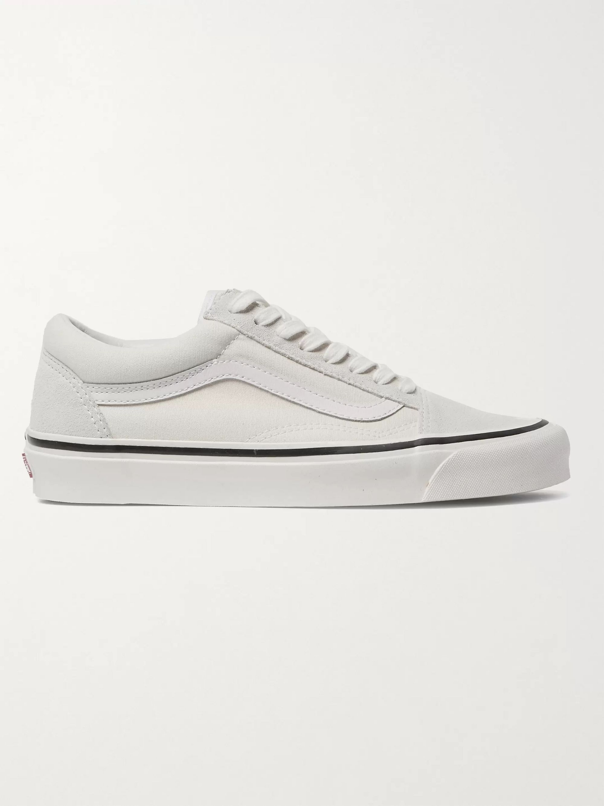Vans UA Old Skool 36 DX Leather-Trimmed Suede and Canvas Sneakers